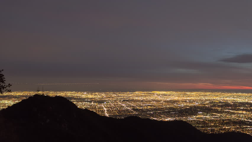 Los Angeles Time Lapse from Mt Wilson Night | Shutterstock HD Video #25274672