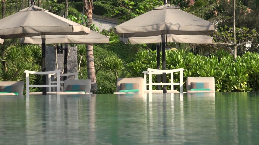 Luxury swimming pool in Hue, Vietnam 2015. | Shutterstock HD Video #25274852