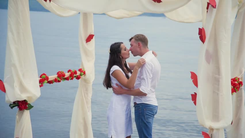 Couple in love at the pier   Shutterstock HD Video #25292519