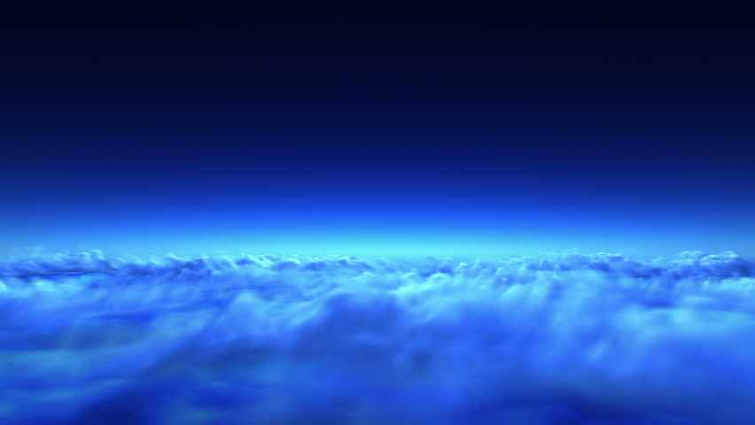 night flight over clouds, loop-able 3d animation - HD stock video clip