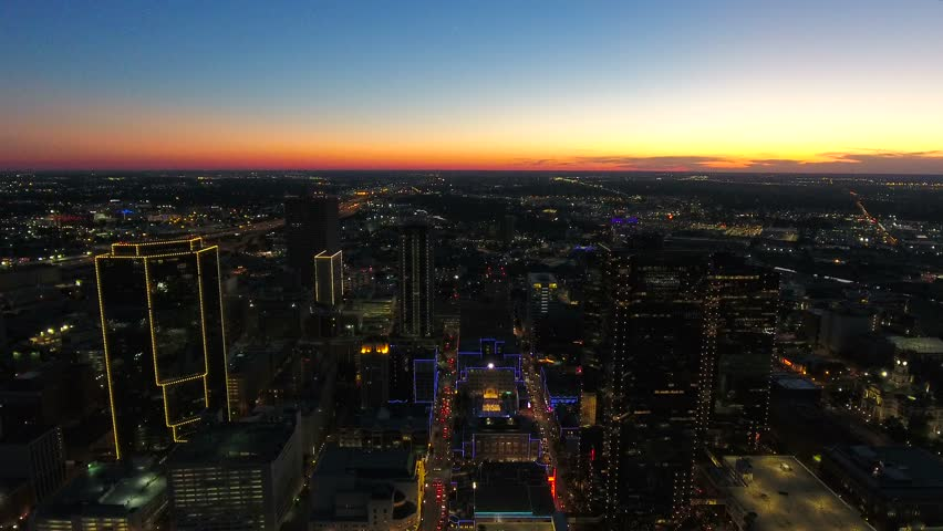 Aerial Texas Fort Worth September 2016 4K | Shutterstock HD Video #25405325