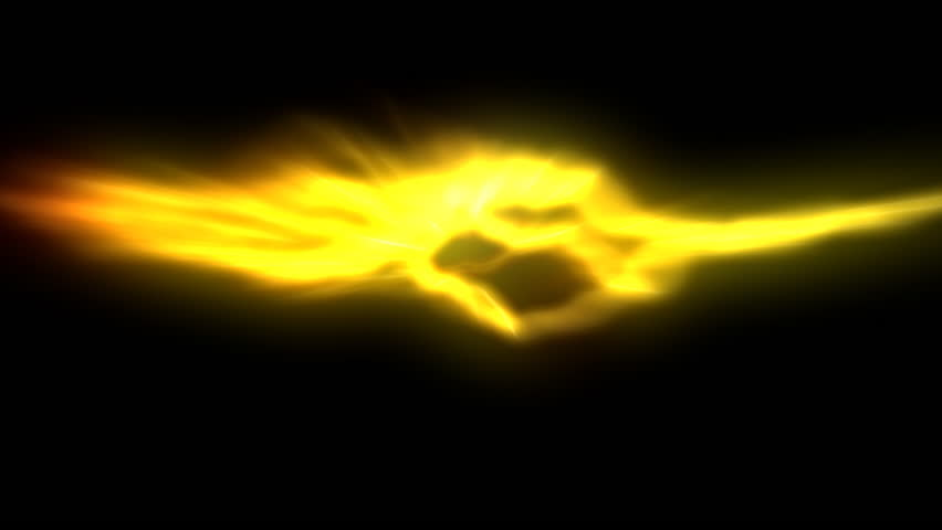 Simulated Yellow Lightning Background Stock Footage Video ...