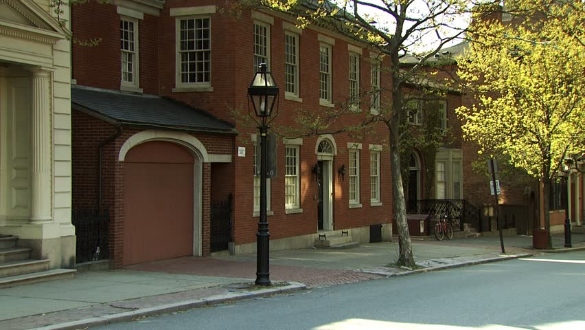Benefit Street, Providence, Rhode Island - HD stock video clip