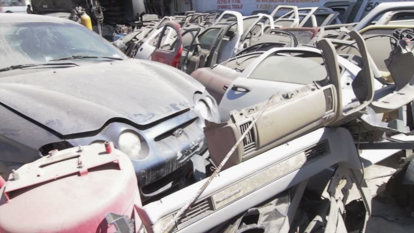 Car spare parts - HD stock video clip
