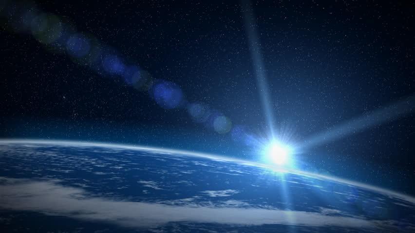 Earth sunrise, HD - HD stock video clip