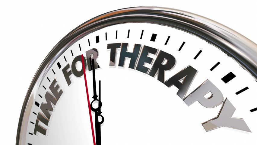 Time for Therapy Clock Feel Better Health Care Help 3d Animation #25798058