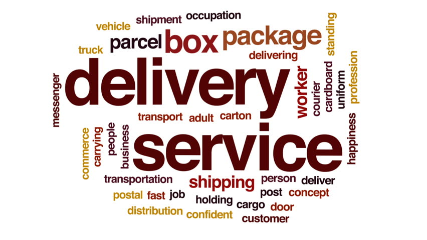 Delivery service animated word cloud, text design animation. | Shutterstock HD Video #25868708