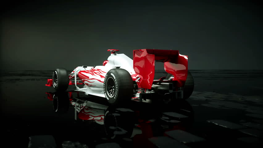 Race sport car in dark studio. realistic 4K animation.   Shutterstock HD Video #25925966