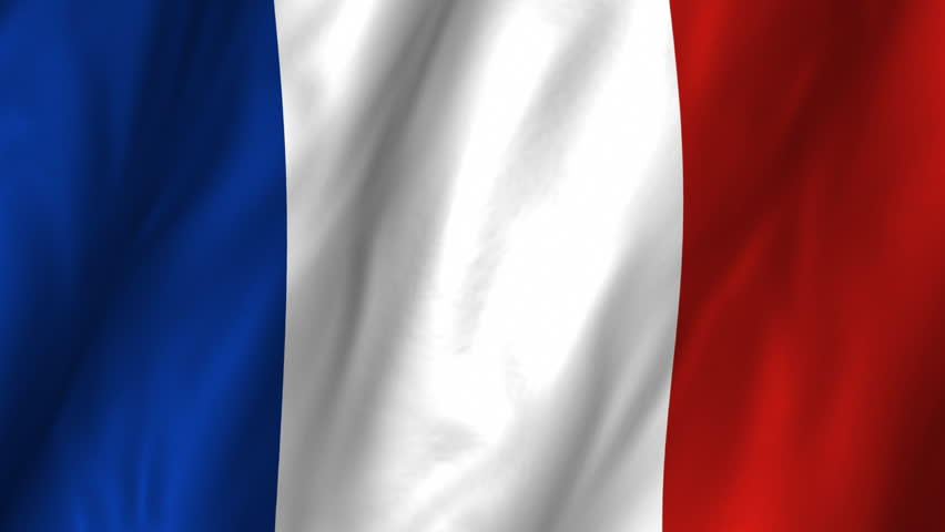 A beautiful satin finish looping flag animation of France.     A fully digital rendering using the official flag design in a waving, full frame composition.  The animation loops at 10 seconds.   - HD stock footage clip