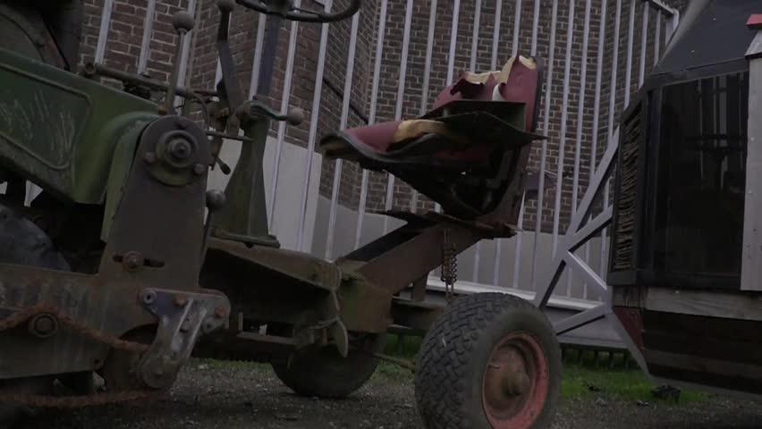 Industrial art tractor steampunk style dolly shot in slow motion | Shutterstock HD Video #26113184