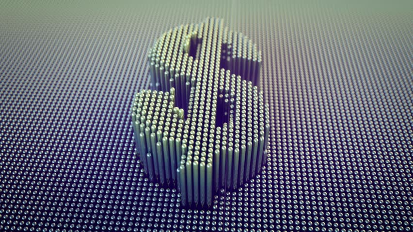 Dollar Symbol Pin Art animation | Shutterstock HD Video #26167994
