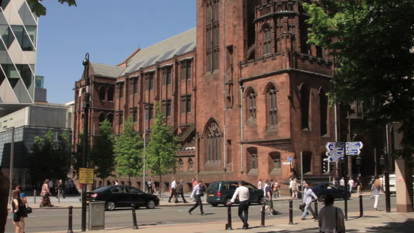 MANCHESTER, LANCASHIRE/ENGLAND - MAY 25: John Rylands University Library on Deansgate on May 25, 2012 in Manchester. The Library is a National Research Library.