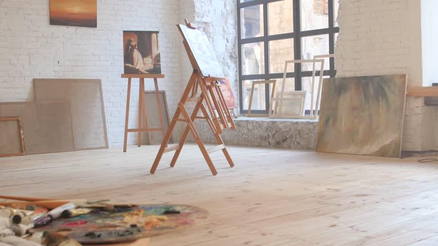 Canvas in art workshop | Shutterstock HD Video #26184716
