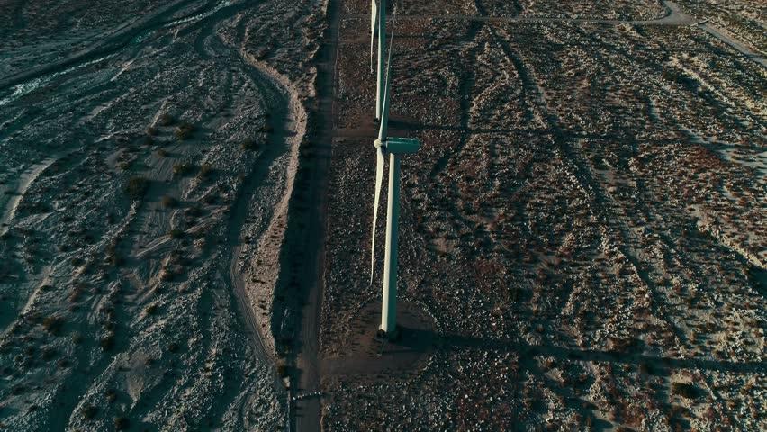 Alternative energy / Huge Windmills Farm / Aerial Drone shot / Slow motion | Shutterstock HD Video #26219114