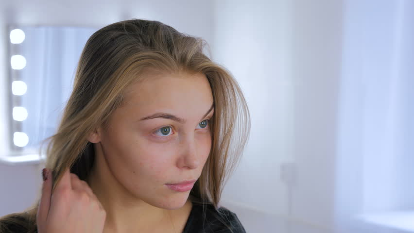 Portrait of pretty, young and sensual woman without makeup. Natural beauty concept | Shutterstock HD Video #26220194