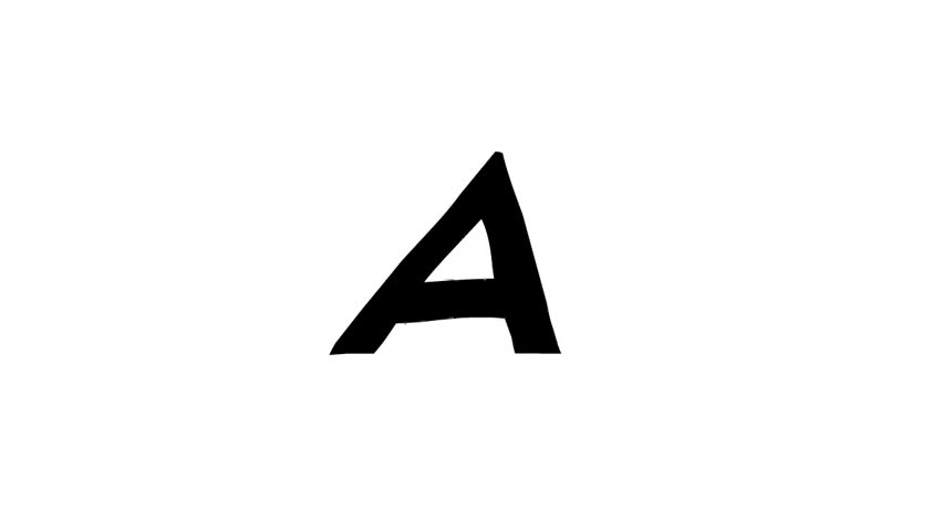 Hand drawn Animated Alphabet (animation loop with alpha) | Shutterstock HD Video #26231498