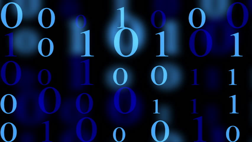 Text and Grids 0207: Streaming binary code (Loop). | Shutterstock HD Video #26280008