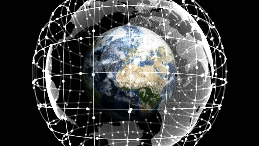 Earth, Connection Network, Animation, Rendering, Background, with Alpha Channel, Concept, Loop, 4k  | Shutterstock HD Video #26425880