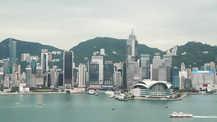 HONG KONG - MARCH 25: Hong Kong Island and Victoria Harbour at early morning on March 25, 2010 in Hong Kong, China. | Shutterstock HD Video #2644820