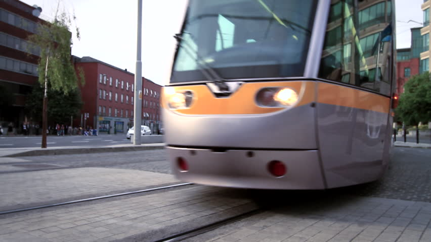 Public transport tram system called Luas in Dublin, Ireland.