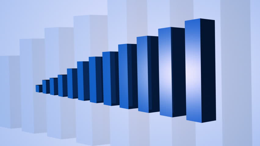Bar Graph Growing - HD stock footage clip