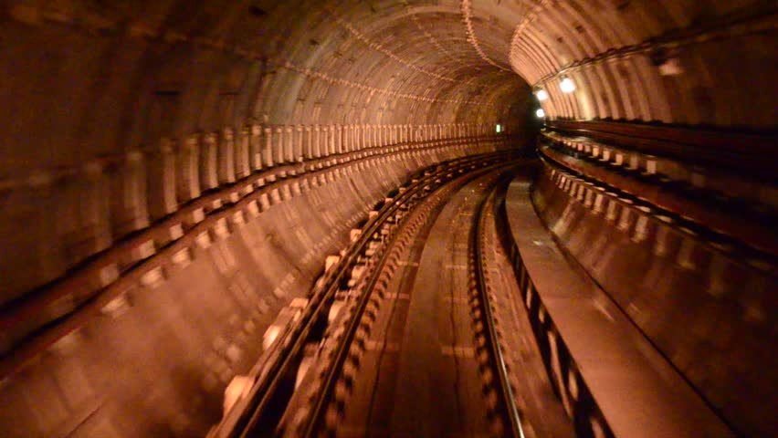 blur motion of tunnel - HD stock footage clip
