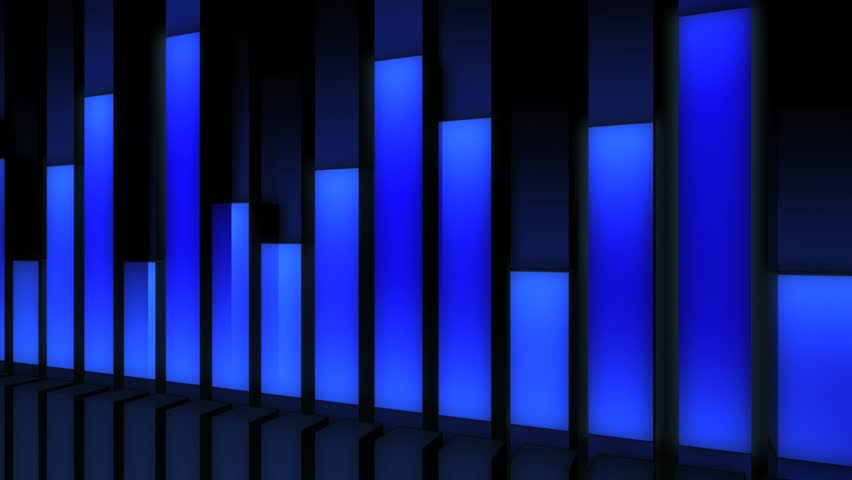 Music Bars Wallpaper: Abstract CGI Motion Graphics And Animated Background With
