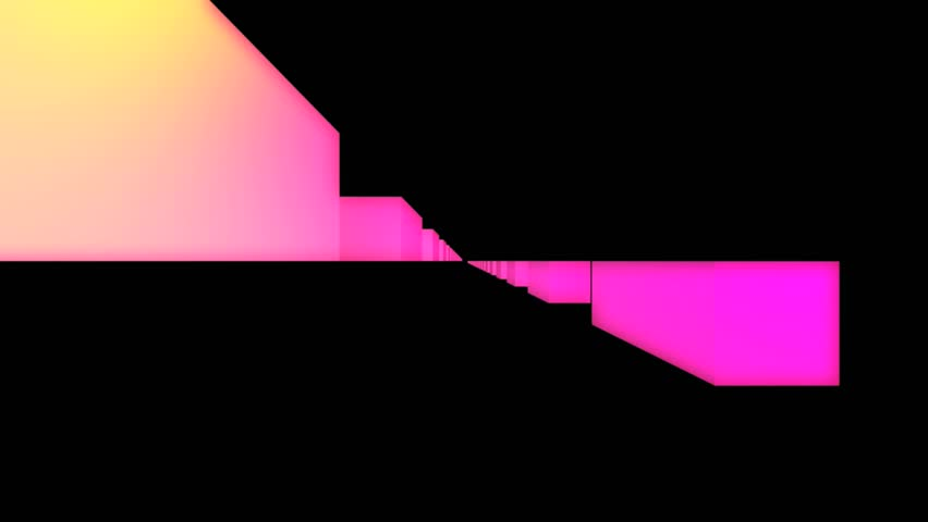 Abstract CGI motion graphics and animated background with pink cubes - HD stock footage clip
