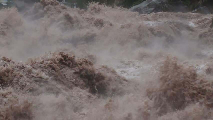 Urubamba River in full flood