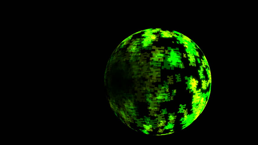 Abstract CGI motion graphics and animated background with green globe shape | Shutterstock HD Video #2709341