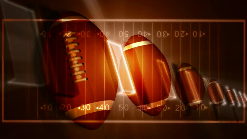 American Football Graphic Art Backgrounds: Abstract CGI Motion Graphics And Animated Background With