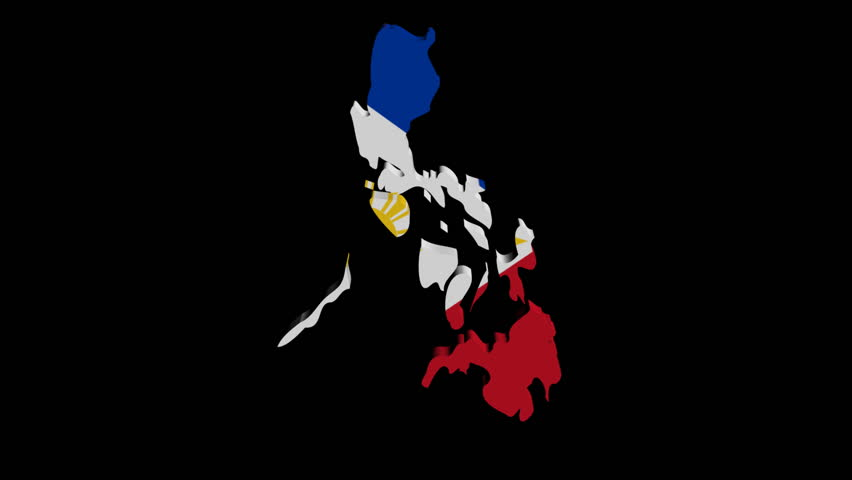 Philippines Map Flag R...