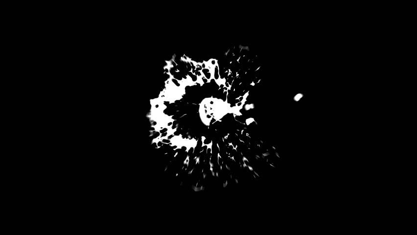 Blood Splash slow motion 2. Comes with Alpha Matte.