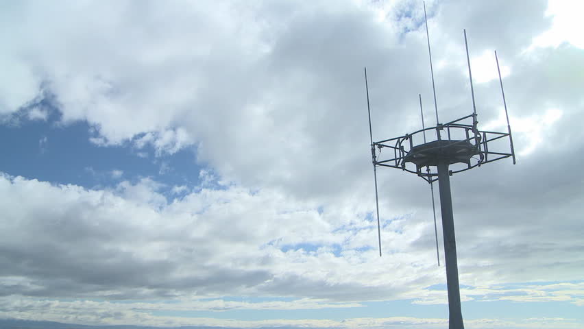 Cellphone tower and clouds in time lapse