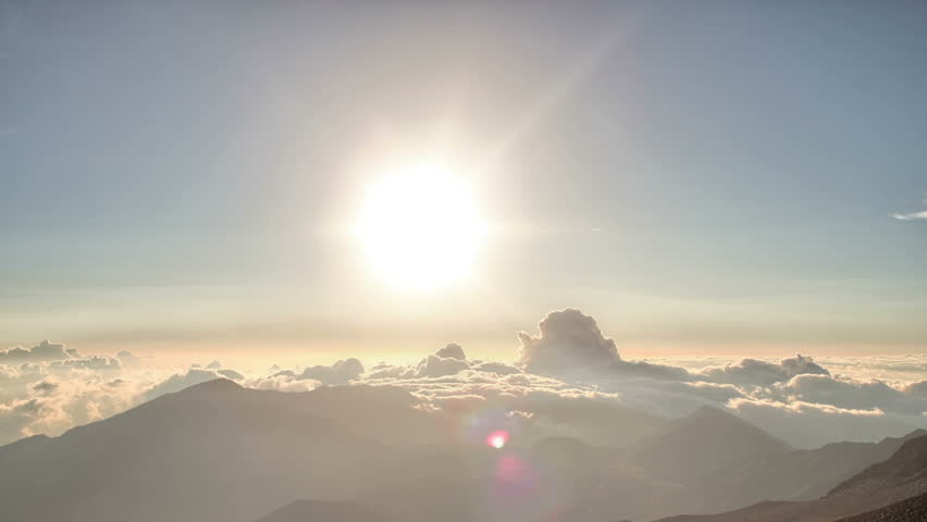 Perfect Mountain Landscape Dawn Time Lapse HDR - HD stock footage clip