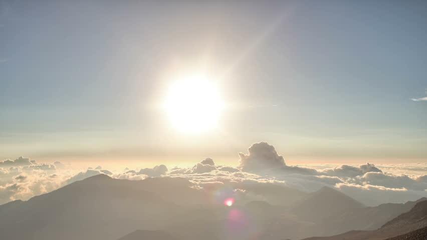 Perfect Mountain Landscape Dawn Time Lapse HDR