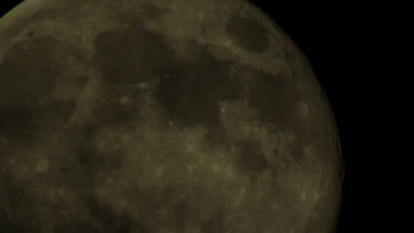 Moon 20 Timelapse - Telescope - HD stock footage clip