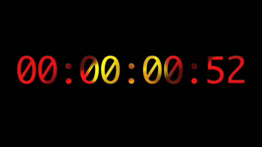 Abstract CGI motion graphics and animated background with stopwatch - HD stock video clip