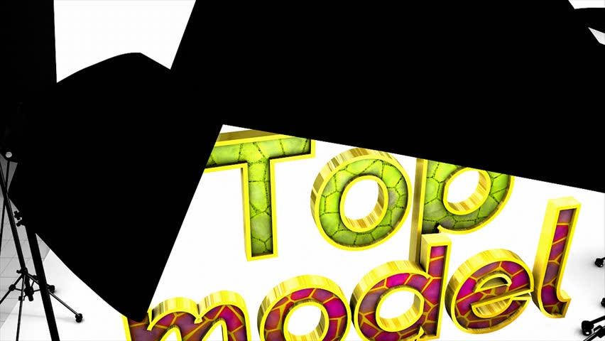Top model in studio, concept animation - HD stock footage clip