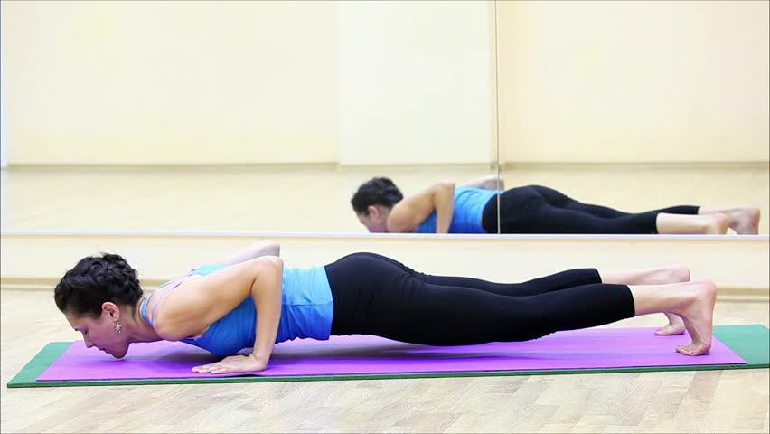 Beautiful girl doing yoga in a gym 8 | Shutterstock HD Video #2764322