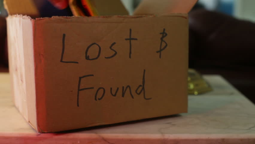 Lost And Found Box. Stock Footage Video 2769209