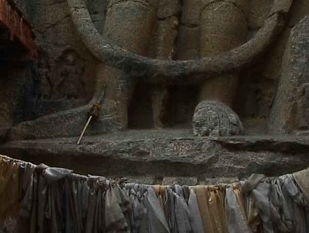 Maitreya, Buddha of the Future in Ladakh - SD stock video clip
