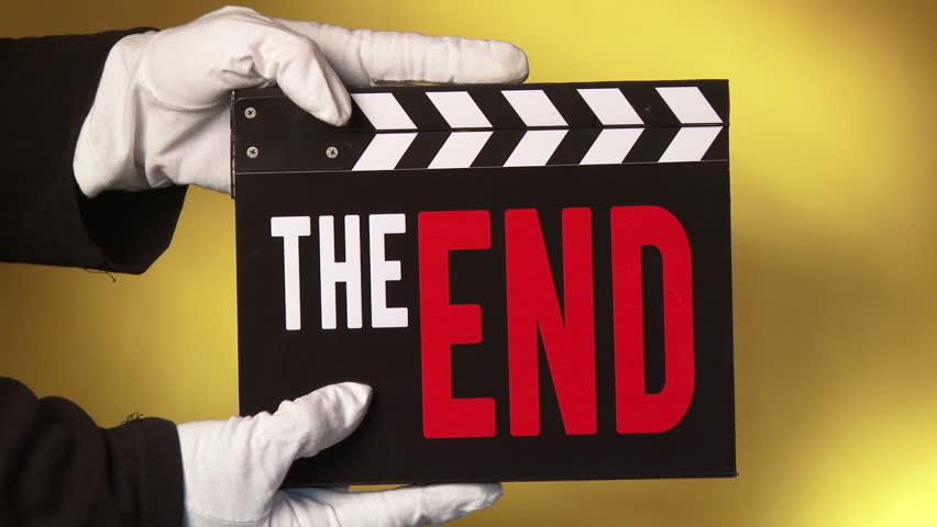 Clapboard, The End, 3 short clips sequence.