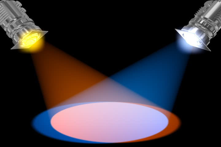 animated colorful reflectors
