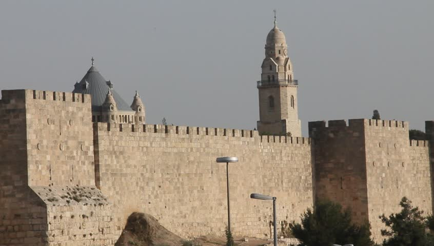Christian Churches And Ancient Walls Of Old City Jerusalem