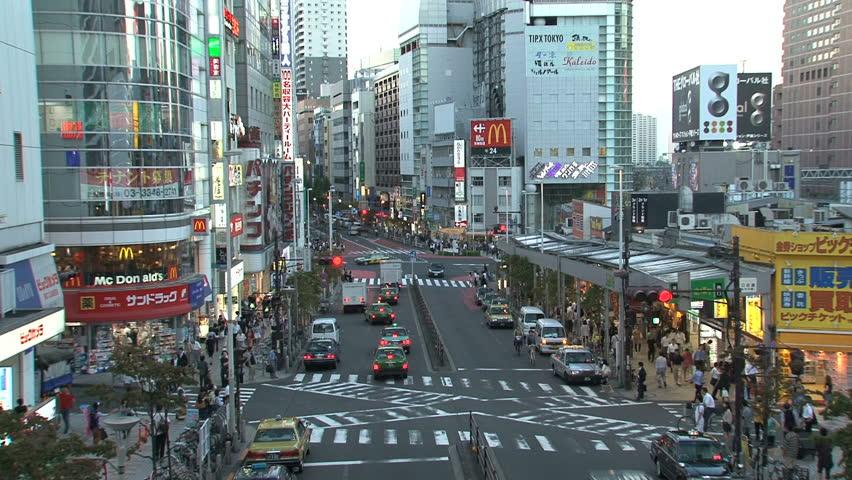 SHINJUKU, TOKYO, JAPAN - CIRCA 2012: Shinjuku crossroad - HD stock video clip