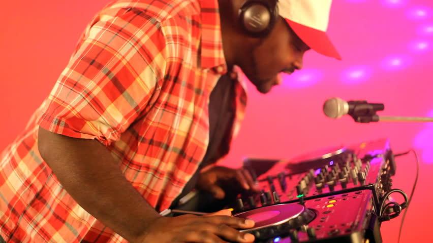 DJ performing - HD stock video clip