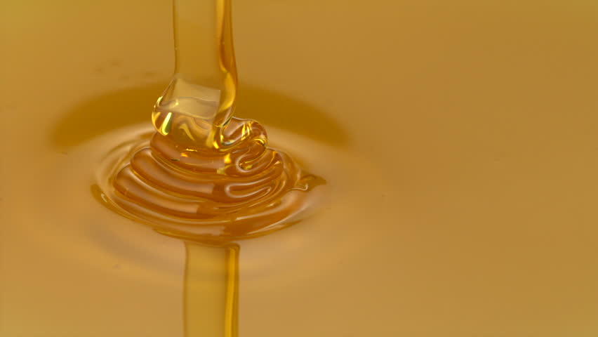 Pouring honey shooting with high speed camera, phantom flex.