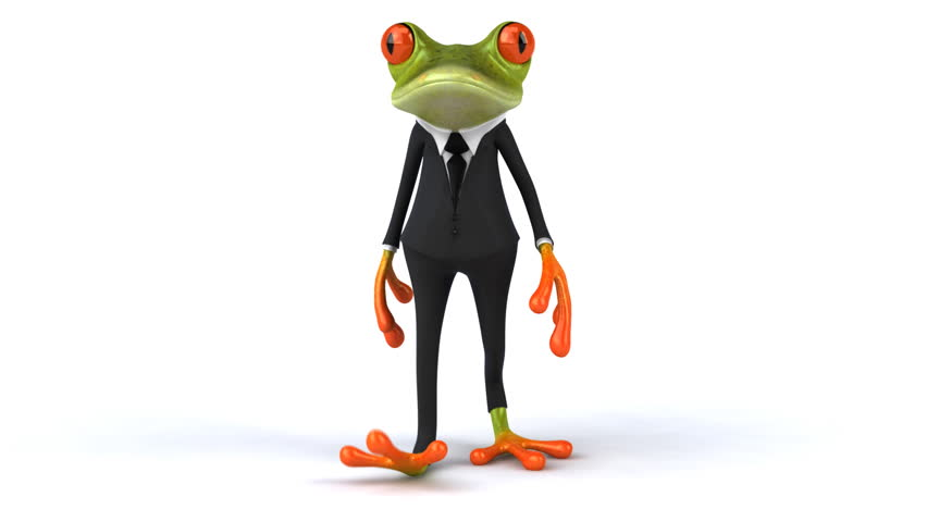 Cool frog - HD stock video clip