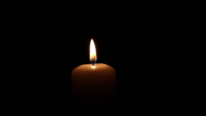 Romantic flame of a candle
